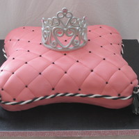 Pillow For A Princess  Surprise party for a 55 yr old princess. Theme was pink, black and white so I coordinated with the invite. My first pillow cake using the...