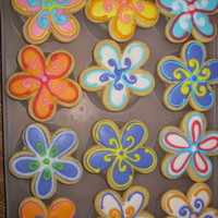 Flower Cookies For Nurses Week Sugar cookies w/ glace'.