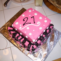 Zebra Print 21st Birthday cake... all butter cream. Came out pretty good :)
