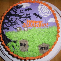 Halloween Cake This is my best cake yet, so much fun!
