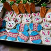 Easter Cookies   Roll out sugar cookies with buttercream frosting