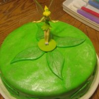 Tink   First time I got fondant to work with me covering a cake