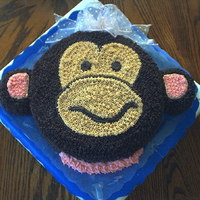 Jenna's B-Day Cake I baked this cake for my boss's step daughter, she really likes monkeys. I designed the whole cake by myself. She loved it.