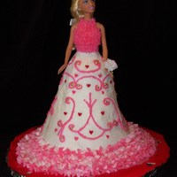 Valentine Doll Cake I made & donated this cake for an event in Chesterfield, MO. She was auctioned off for $45.00. She is made of white cake with...