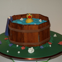 Rubber Ducky Cake  Made this for a charity auction for the local Children's Hospital. Big hit! Very fun to make. All fondant and gumpaste decorations,...