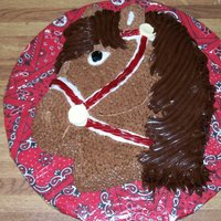 Horse Cake Pound cake, bridal is twizzler with sweetart