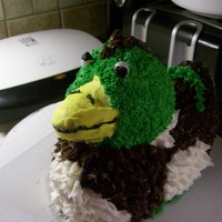 Crazy Mallard Duck Cake Friend wanted a cake for her anniversary that represented the crazy mallard duck that attacked the couple on their first date. The hubby...