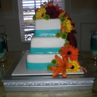 Tropical Wedding Cake This cake was made for a reception for a couple that had a destination wedding. The bride wanted a tropical feel.