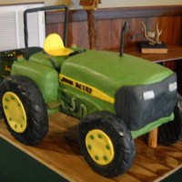 John Deere Grooms Cake Grooms cake to replicate John Deere tractor. Hubby said it looked more like a riding lawn mower with the wide front, but I had to do it to...