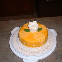 The Color Yella My niece's favorite color is yella. This was my first fantasy flower. Chocolate cake with peanut butter buttercream underneath fondant...