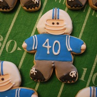 Football Player Cookies