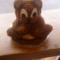 Teddy Bear Cake This is my 1st teddy cake and I lived making it. I used a wilton 3d cake tin and butter cream icing.