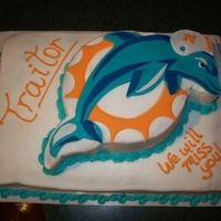 Miami Dolphins This cake was for a beloved coworker and Buffalo Bills fan who was leaving our organization to work for the competitor. The Dolphin was...