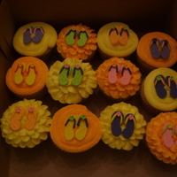 More Flip Flop Cupcakes Ordered by my bank for an employee's birthday.