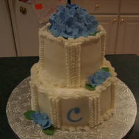 Blue Hydrangea 25Th Wedding Anniversary Made for a friend's 25th wedding anniversary this past Saturday. Took ideas from several similar cakes here on cake central. Blue...