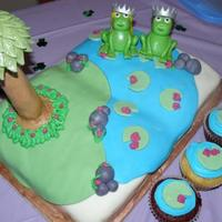 Fairy Tale Frog Cake This is for a friends bridal shower, she loves frogs. Her maid of honor sugested a fairy tale book with the frogs. It was a bit of a...