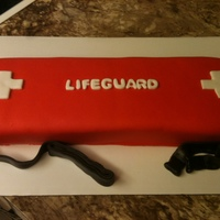 Lifeguard Rescue Tube A friend of mine works for our local public pool as a swim couch/lifeguard. And was training her new lifeguards and wanted a cake for their...