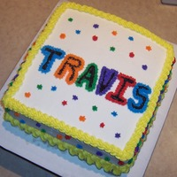 Square Star Practice Cake This is my first attempt at a square cake. I was disappointed in how it came out but I learned alot which is the point, right? I added my...