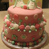 Baby Girl Shower Cake / Shabby Chic I made this cake for a co-worker's baby shower.