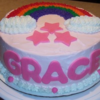 Rainbow Baby Grace Cake We had a new addition to the family so I decided to incorporate this into the rainbow cake. My first time working with fondant. Nothing...