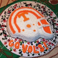 Ut Vols Cake My very first cake. I was having friends over for the UT vs. FL game and decided to try out the football helmet instead of the bear cake