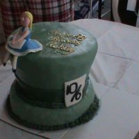 Alice Cake I made this Alice in Wonderland themed cake for my sisters 20th birthday. I was my first carved caked. The hat shape turned out cute but i...