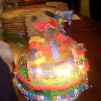 Build A Bear Cake   I did this for my son. I wish the pictures was better, I hoping to find better pic for my friends.