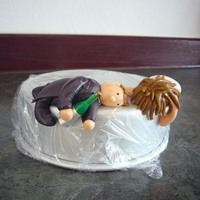 Drunken Bride And Groom  A friend asked for this drunken bride and groom for her brother's wedding cake. Not what I would want on my cake :) This is my version...
