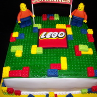 Lego Birthday All the decorations are fondant and gum paste the only non edible feature is the sign