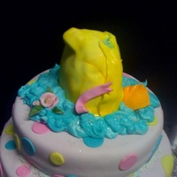 Baby Shower- Plan B this started out as a cute little duck sitting on top- at midnight, the head fell off! this is Plan B- they LOVED it...