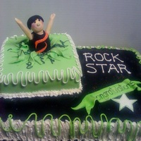 Banquet Cake... Awards banquet cake for my niece's gym- the gymnast is all sugar paste...