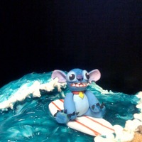 Lilo And Stitch   Lilo& Stitch birthday cake...Stitch is all fondant...