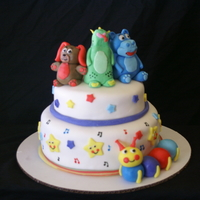 Baby Einstein Cake characters are fondant