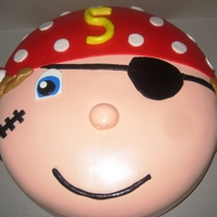 Pirate Boy Cake Made for 5 year old's Birthday with lot of help from CCer's. Thanks!