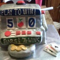 Slot Machine Cake Made for birthday with lots of help from CCers...Thanks!