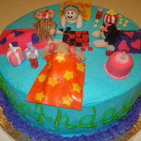Slumber Party Birthday Cake I made this cake for my cousin's 9th birthday party. I am 14 years old and I love to decorate cakes.Cake Photos By bnroberts1016,...