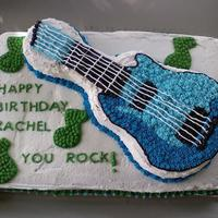 Guitar Birthday Cake I made this cake for my friends's birthday. I am 14 years old and I love to decorate cakes. Cake Photos By bnroberts1016, Check out my...