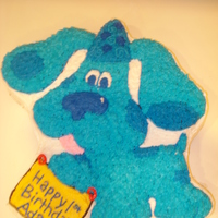 Blues Clues Birthday Cake I made this cake for a friend's son's first birthday. I am 14 years old and I love to decorate cakes.Cake Photos By bnroberts1016...