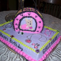 Puppy Dog Purse Cake This was for a little girl who wanted a girly/dog themed birthday cake.
