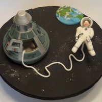 Space Walk Through Ossas 2010 I can't believe I won 1st place in the Special Techniques not on Cake category. I was so excited. Everything is fondant except for the...