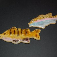 Trout & Perch Cookies These were cookies, that were handpainted with food coloring after the frosting had hardened. They were samples I was working on for color...