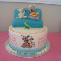 Toopy , Toopy.... Binoo, Binoo....  Inspired by yokko and inspireddecorator 's T&B cakes - THANK YOU!!!! A Toopy & Binoo cake for 2 little princesses! Had a...