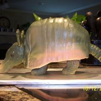 Steve's Armadillo Cake My take on the Steel Magnolias Armadillo Groom's Cake......... I wanted him to be laying down, but my husband insisted that he be...