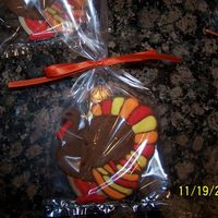 Thanksgiving Turkey Cookies   NFSC with royal icing decorations..... cookies made for my son's kindergarten teacher.