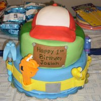 Handy Manny 3 tier all fondant