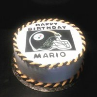 Steelers All buttercream with ediable image