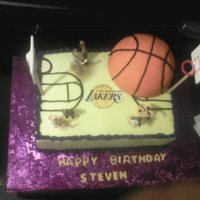 Los Angeles Lakers All buttercream exept the bball