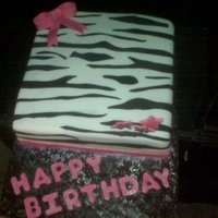 Zebra And Hot Pink 21St Birthday