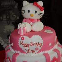 Hello Kitty Cake This was all made out of fondant, even hello kitty. This was a birthday cake I made for someone who still is young at heart. I love how it...