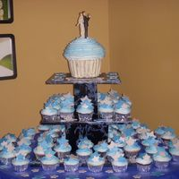 Cupcake Wedding Cake My friends wanted to be original so they choose a cupcake wedding cake!